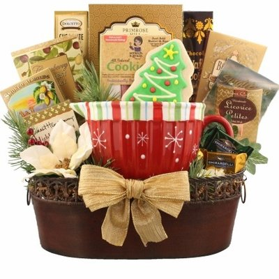 Holiday Memories Gourmet Holiday Gift Basket by Organic Stores