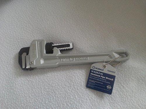 """Kobalt 10"""" Aluminum Pipe Wrench Model #55779 Item #464652"""