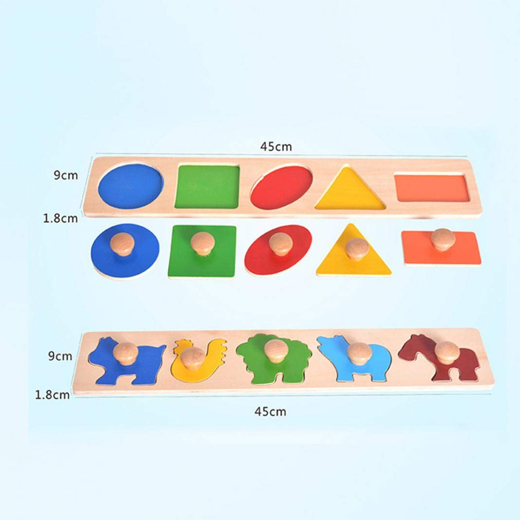 Geometry CactusAngui Puzzles Magic Cubes Puzzles Wooden Animal Geometric Puzzles Board Shape Color Matching Educational Kids Toy