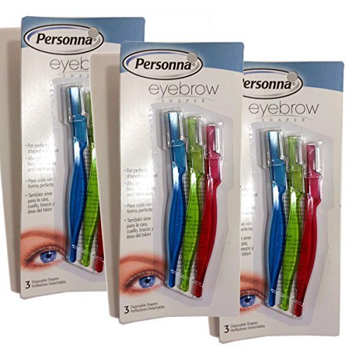 - Personna Eyebrow Shaper for Men and Women - Value Pack 3 Count 9 Total by Personna