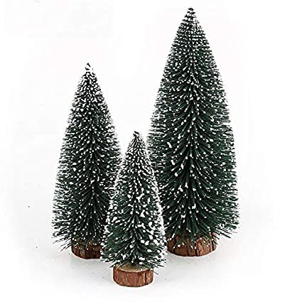 nuolux christmas treedesktop miniature pine tree 6 pcs