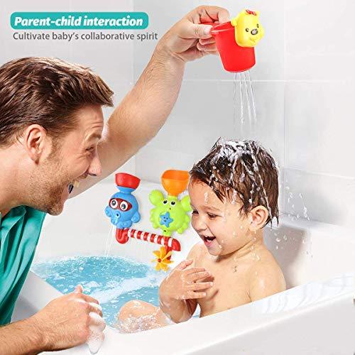 GOODLOGO Bathtoys Enjoy Bath Time with Happy Family for Boy Girl (Green)