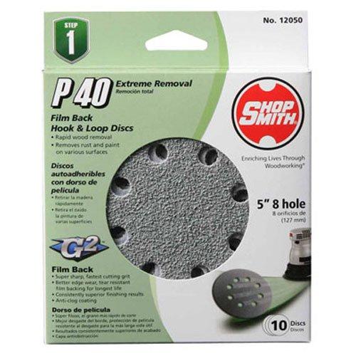 Shopsmith 12050 40 Grit Aluminum Oxide Sanding Discs (10 pack), 5