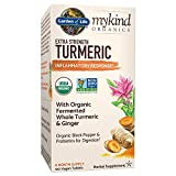 Garden of Life mykind Organics Extra Strength Turmeric Inflammatory Response 120 Tablets-100mg Curcumin (95% Curcuminoids) Black Pepper, Probiotics, Organic Non-GMO Vegan Gluten Free Herbal Supplemen