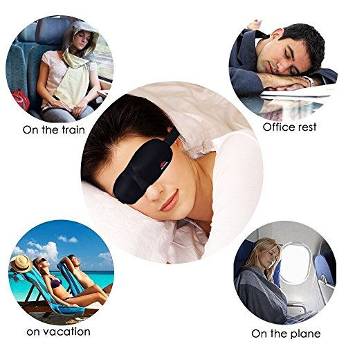 Sleep Mask, BEST Premium Quality Light Weight Comfortable Soft Adjustable Strap Sleeping Mask - Perfect for Men Women Children - Sleep Quickly Block Sun Light Migraines Relaxation By AVIMA® (10 Pack) by AVIMA (Image #1)