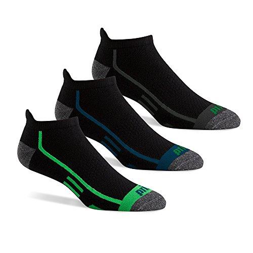 (Prince Men's Performance Plus No Show Tab, Black Assortment, Sock Size: 10-13/Shoe Size:9-11)
