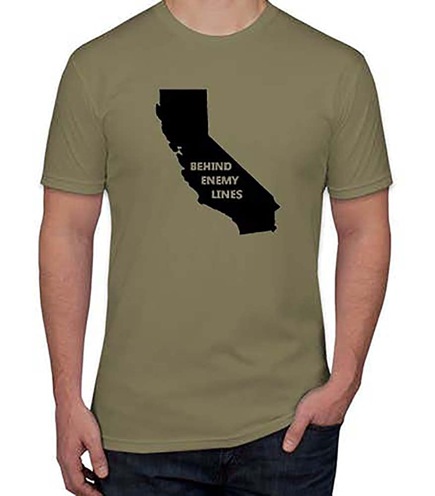Get Sticky Stickers Behind Enemy Lines California State T-Shirt | Amazon.com