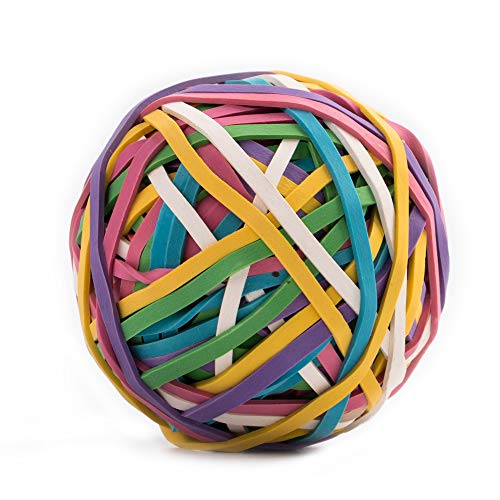 Eagle Rubber Band Ball, 170 Bands Per Ball,  Assorted Color