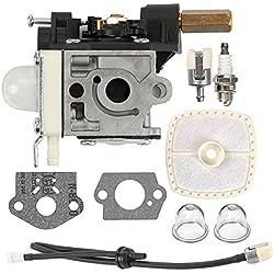 Milttor RB-K75 Carburetor PE200 SRM210 Carb Fuel Line Kit Primer Bulb for ECHO Weed Eater GT200 SRM 210 PE 200 HC150 SRM211 GT200 Trimmer Parts A021000740