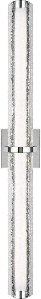 Feiss WB1878CH-L1 Cutler LED Glass Wall Vanity Bath Lighting, Chrome, 1-Light (36
