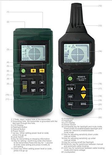 GOWE tubo de metal cable de alambre Tracker Finder Localizador Detector Tester Medidor Ac/Dc 12 ~ 400 V: Amazon.es: Bricolaje y herramientas