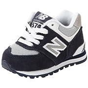 New Balance KL574 Classic I Running Shoe (Infant/Toddler),Navy/White,3 M US Infant