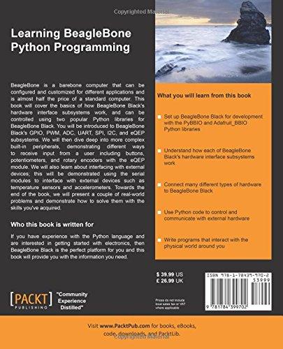 Learning beaglebone python programming alexander hiam learning beaglebone python programming alexander hiam 9781784399702 amazon books fandeluxe Image collections