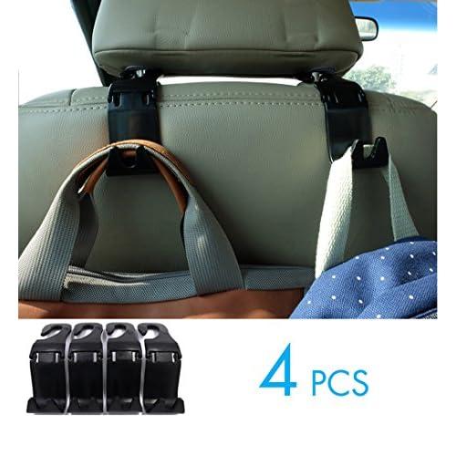 YOMOSI 4 PCS Car Seat Back Hook Auto Headrest Portable Organizer Holder Hooks Grocery Shopping