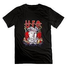 Youqian UFO Band Muisc Tour Men's T-Shirt XX-Large Black Mens