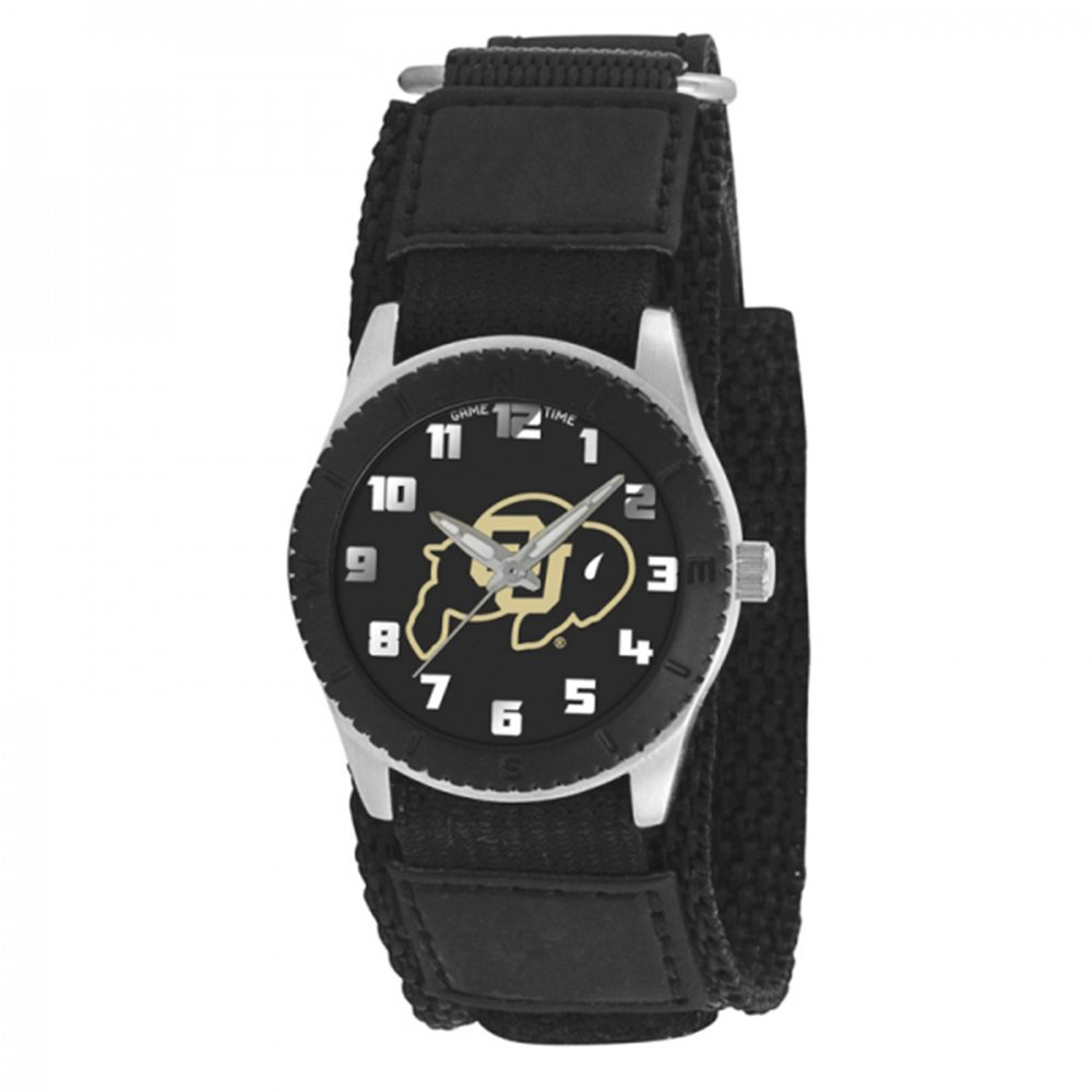 Game Time Boy's 'Rookie' Quartz Metal and Canvas Casual Watch, Color:Black (Model: ROB-COL)
