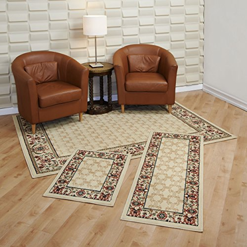 Lorraine Collection 3 Pc Area Rug Set Size: 5'x7' Rug, 22