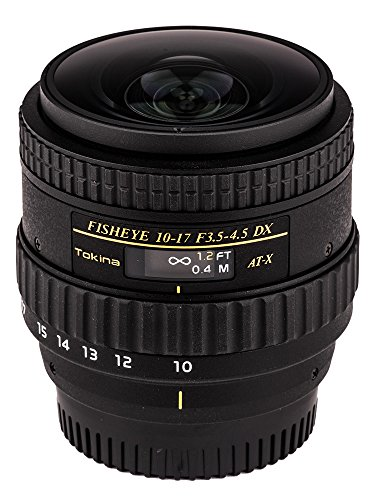 Tokina ATXAF107DXNHN 10-17mm f/3.5-4.5 AF DX NH Fisheye Lens for Nikon