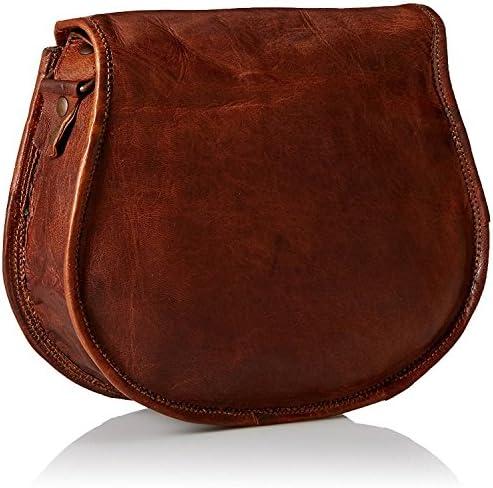 PRASTARA Genuine Leather Handmade Satchel Messenger Unisex Shoulder Office bag for males & girls day-to-day use.