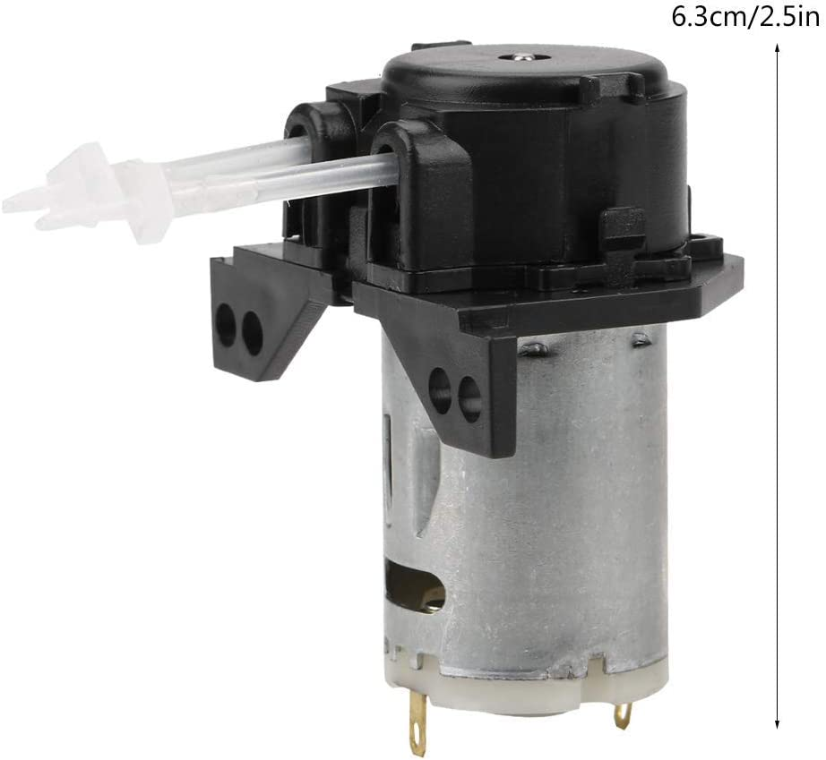 24V avec connecteur pour lanalyse Chimique Hyuduo Direction d/écoulement r/églable de t/ête p/éristaltique /à amor/çage Automatique de Pompe doseuse CC 12V Blanc 12v 1 * 3