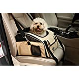 Pettom Pet Car Seat Carrier Airline Approved for Dog Cat Lookout Pets up to 15 lbs (Khaki, S)