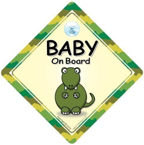 panneau b/éb/é/à bord Baby On Board panneau dinosaure dinosaure sur planche b/éb/é/à bord autocollant unisexe pour b/éb/é petit-enfant /à bord PETIT DINOSAURE baby on board Sticker pare-chocs