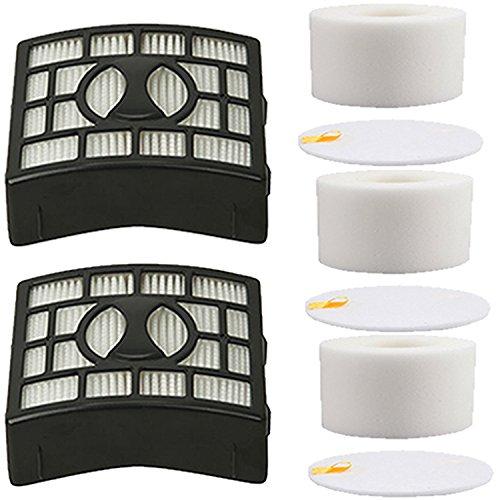 VacuumPal 2Pk Foam & Felt Filters Replacement Kit for Shark Rotator Powered Lift-Away Speed NV683, NV682, NV681, NV680, NV800, NV801, NV803, UV810 Vacuum Cleaner,Compares to # XFF680 & XHF680