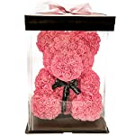 Forever-Monroes-Rose-Teddy-Bear-14-inch-Girlfriend-Valentines-Gift-Bear-made-out-of-Roses-Red-Rose-Foam-Bear