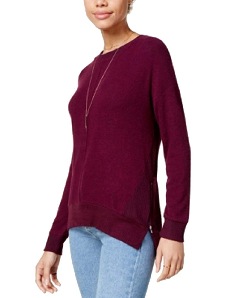 Hippie Rose Juniors Marled Side-Zip Sweatshirt