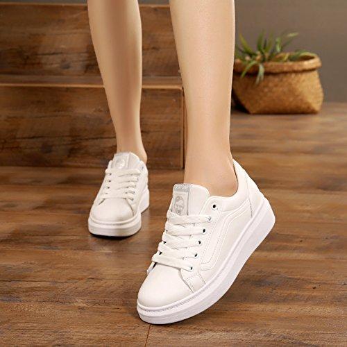 'S De Ocio Women Wild Estudiante HBDLH Zapatos Flecos Singles Primavera Zapatos El De Fondo Fondo Plano white Grueso Deportes OqOx1XPw0