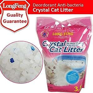 LONGFENG Crystal Cat Litter Strong Absorption Deodorization Cat Litter Sand