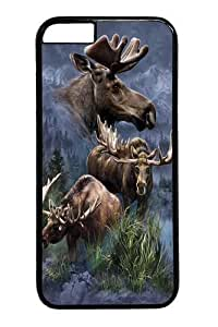 Case For Ipod Touch 5 Cover Case and Cover -Moose Collage PC Hard Plastic Case For Ipod Touch 5 Cover Black