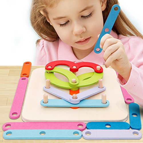 Wooden Activity Letter and Number Sorter Montessori Toys Educational Preschool Shape Color Recognition Geometric Board Block Stack Sort Puzzle Toys for Kids Baby Toddler Boy Girl by Go On 123