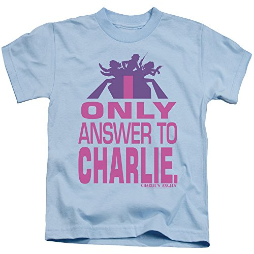DressCode Charlies Angels - Youth Answer T-Shirt, Size: Small (4), Color: Light Blue