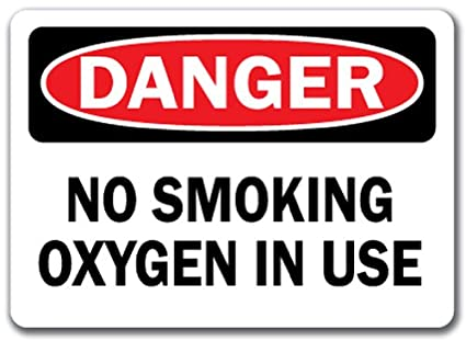graphic regarding Oxygen in Use Sign Printable named Hazard Signal - No Smoking cigarettes Oxygen inside of Hire - 10\