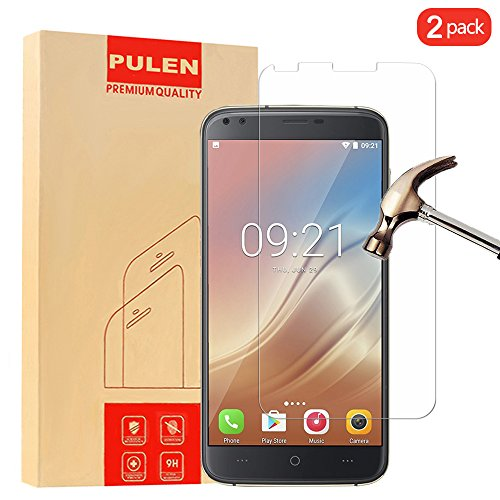 [2-Pack] Doogee X30 Screen Protector, PULEN Premium Quality Tempered Glass Protective Film 0.33mm Anti-Bubble Shield 9H Hardness Clear Scratch Resist Bubble-free Anti-Fingerprint for Doogee X30