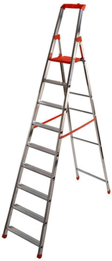 HOMEGARDEN - Escalera Profesional de Aluminio con 9 peldaños: Amazon.es: Hogar