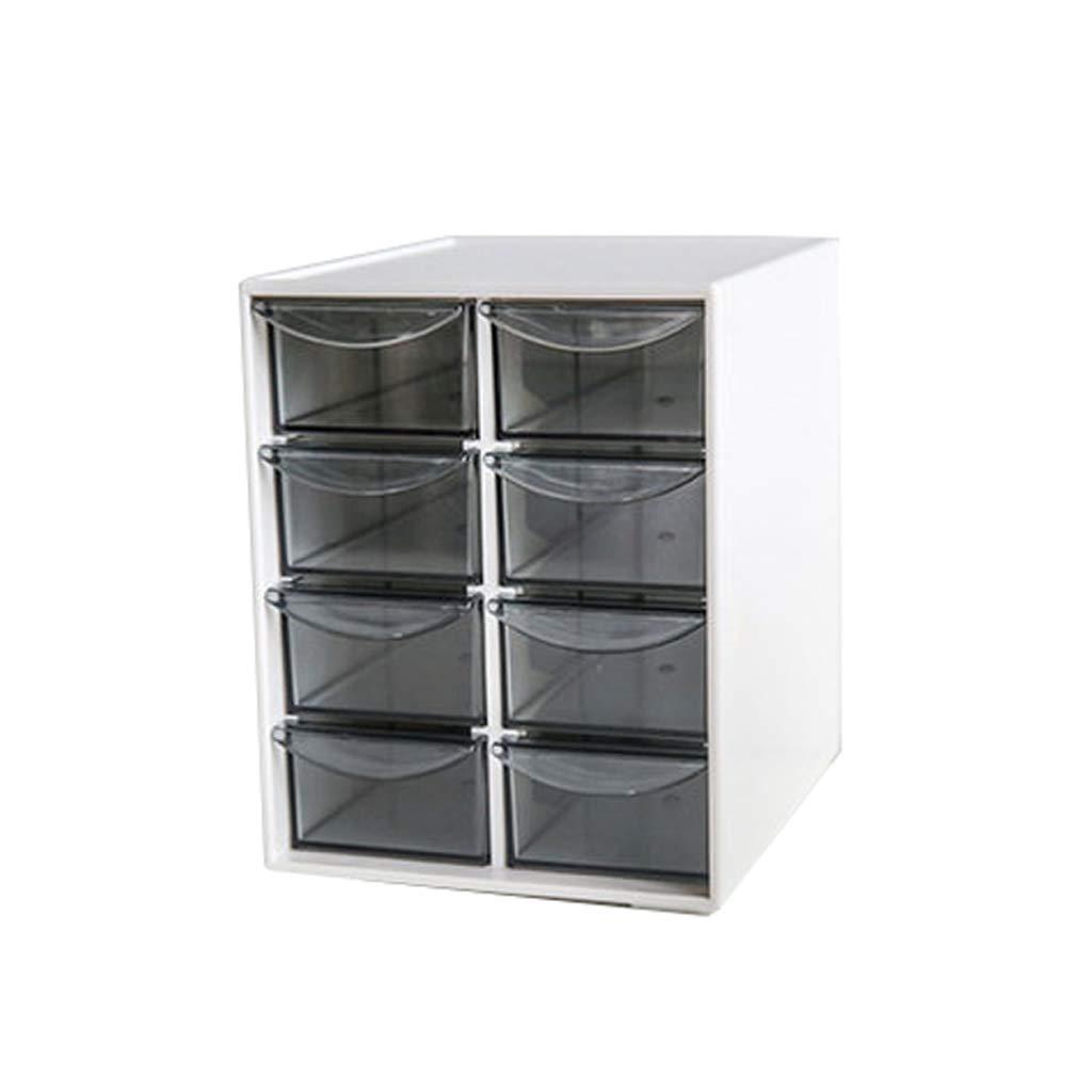 LCSHAN Desktop File Cabinet Office Stationery File Desk Drawer Storage Box (Color : B Style) by File Shelf