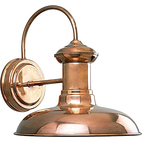 Copper Outdoor Wall Light - Progress Lighting P5722-14 1-Light Wall Lantern, Copper
