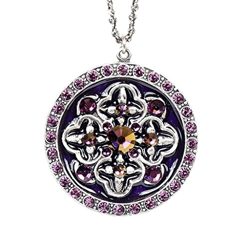 Anne Koplik Purple Power Swarovski Crystal Pendant Necklace 7937 ()