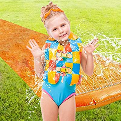 Sundlight Lawn Water Slide Backyard Best Slip and Slide for Toddlers Outdoor Water Play Kiddie Wading Pool: Garden & Outdoor