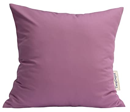 Amazon TangDepot Durable Faux Silk Solid Pillow Shams Square Awesome Eggplant Decorative Pillows