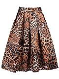 Search : CHARLES RICHARDS CR Women's Print Floral Tiger Pattern Midi Skirt
