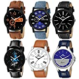 Beardo Pack of 6 Multicolour Analog Analog Watch for Men and Boys