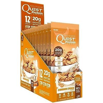 Quest Protein Powder Cinnamon Crunch 12 pouches