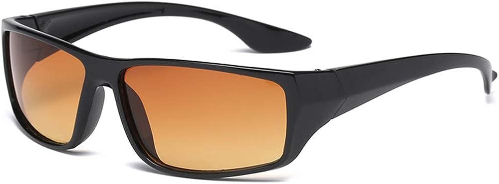 HD-Fahrer-Sonnenbrille Fahrer-Sicherheitssonnenbrille f/ür Auto und Motorrad UV-Schutz TaiRi Sonnenbrille Nachtsichtbrille