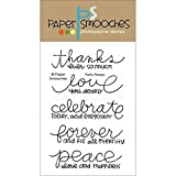 Paper Smooches Clear Stamps, 4 by 6-Inch, Pretty Phrases