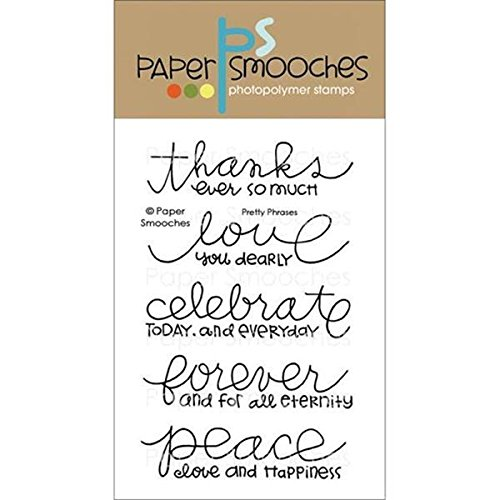 Paper Smooches Clear Stamps, 4 by 6-Inch, Pretty Phrases by Paper Smooches