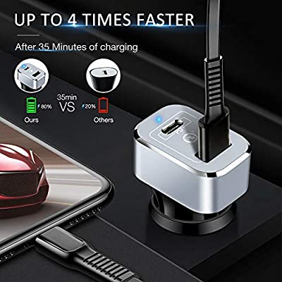 Upgrade Car Charger, Capshi 63W USB Type-C PD Car Charger Adapter with Quick Charge 3.0 Dual Port Compatible iPhone 11/11 Pro/11 Pro Max/XR/XS/X/Plus, MacBook Pro, iPad Pro Air Mini, Galaxy Phone and: Electronics