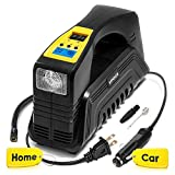 Kensun AC/DC Digital Tire Inflator for Car 12V DC and Home 110V AC Rapid Performance Portable Air Compressor Pump for Car, Bicycle, Motorcycle, Basketball and Others